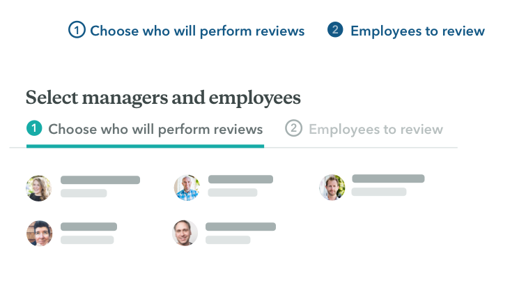 Assign reviews to managers